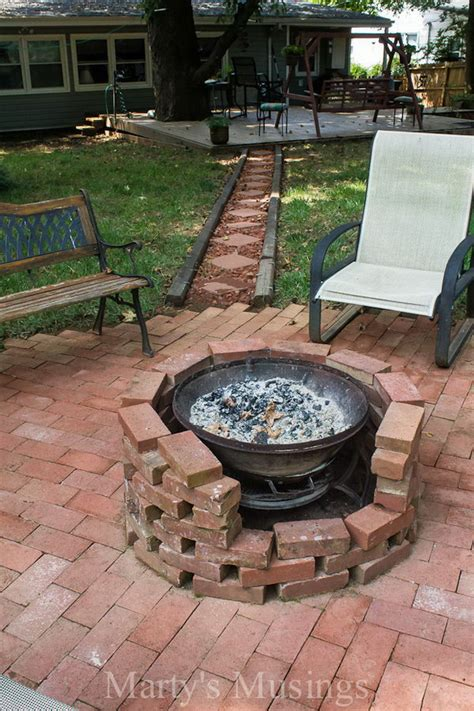 diy brick firepit how to diy a pit for your backyard ideas and