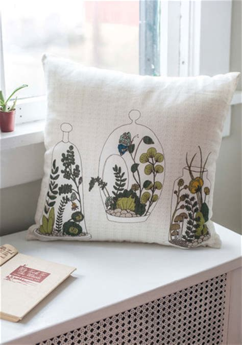 decor on display pillow mod retro vintage decor