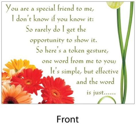thank you letter to special friend angelas poems shop archives for thankyou verse