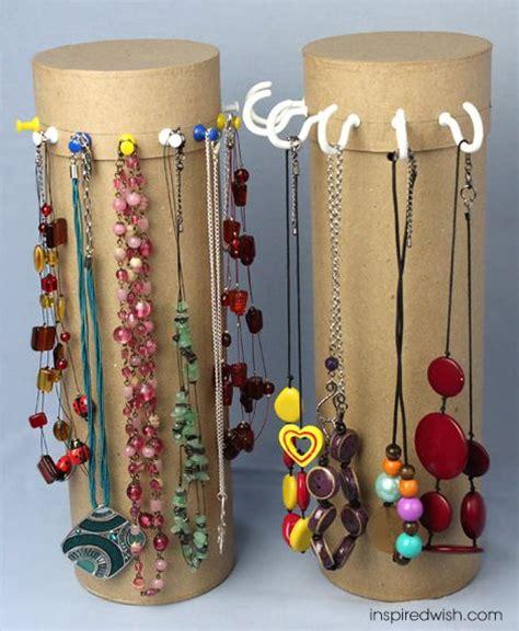 Paper Towel Holder Craft Ideas - 25 best diy necklace holder ideas on necklace