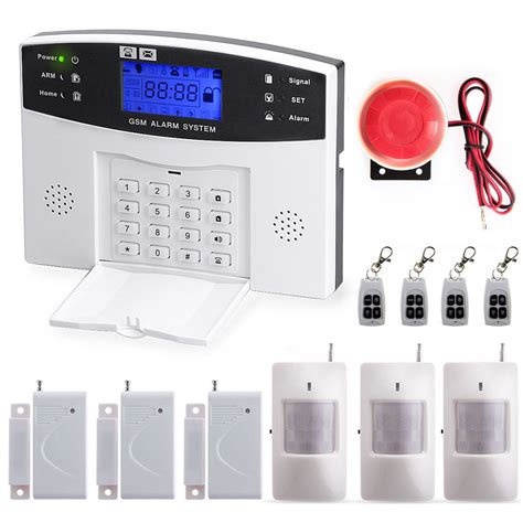 Alarm Gsm wireless gsm sms home burglar security alarm system