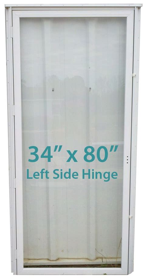mobile home all glass door 34x80 lh white with screen