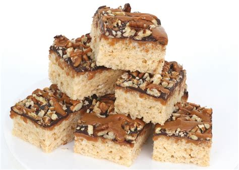 recipe caramel turtle rice krispies treats glorious treats