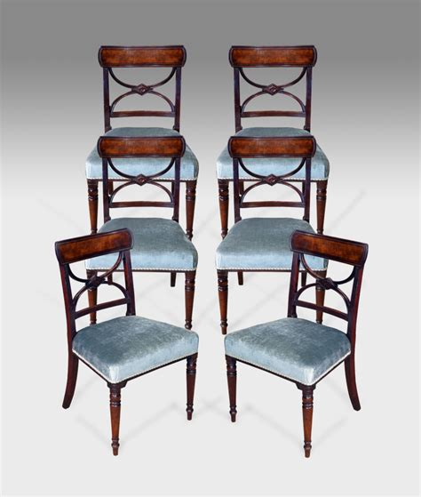 Antique Dining Chairs Uk Set Of 6 Antique Dining Chairs 6x Georgian Dining Chairs Cross Splat Dining Chairs Mahogany