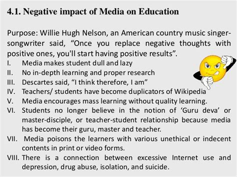 thesis about the effects of social media positive and negative effects of social media essay