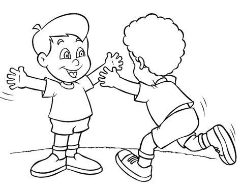 imagenes para colorear sobre la amistad rayito de colores amigos para colorear