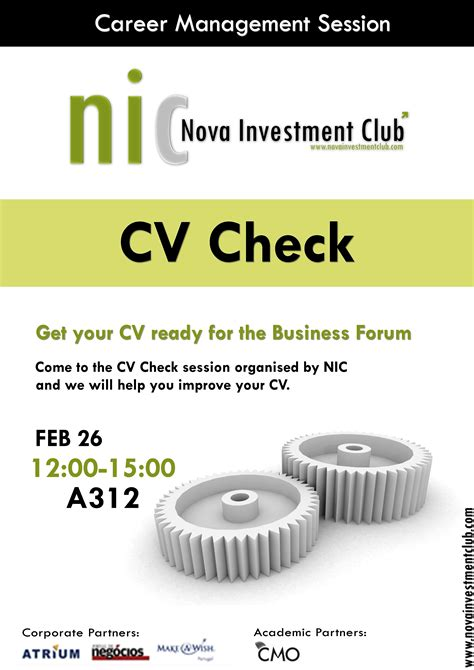 cv check session investment club