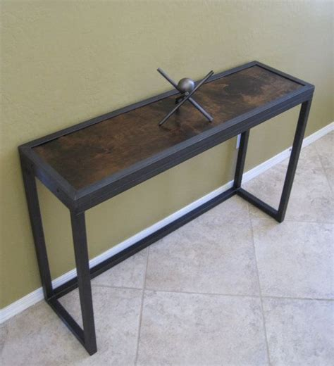 Metal Sofa Table Modern Industrial Metal And Juniper Console Table Sofa Table Displa