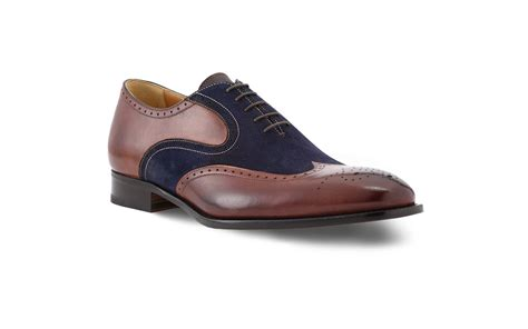 oxford wingtips shoes wingtip oxford shoes in brown antique blue suede
