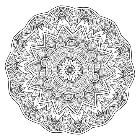 mandala coloring pages for beginners 5 free printable coloring pages mandala templates free