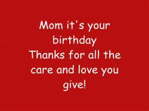 happy birthday mom mp3 download phineas and ferb mom it s your birthday lyrics hq