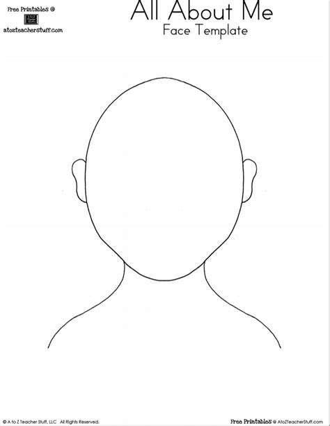 face template for preschool images