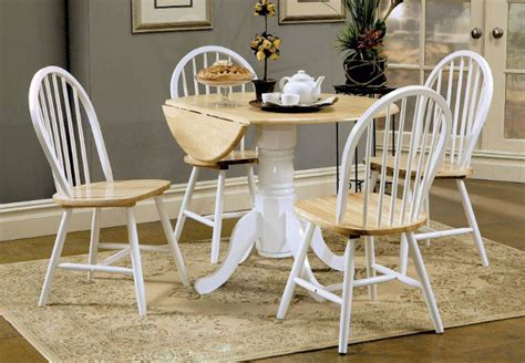 coaster natural wood  white dining table   chairs