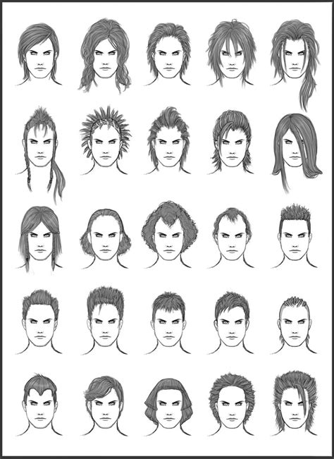 guy hairstyles drawing men s hair set 12 different hairstyles for boys