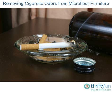removing cigarette odors  microfiber furniture
