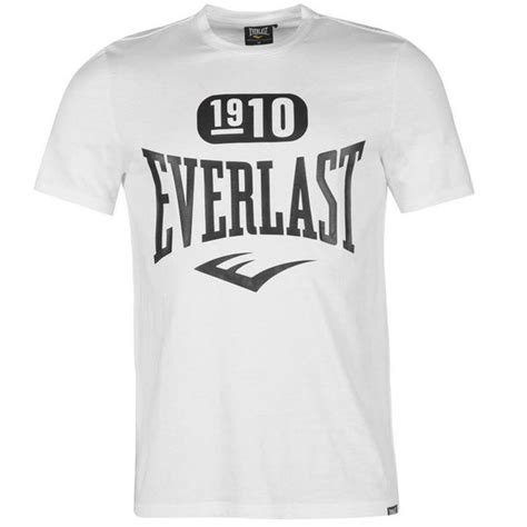 T Shirt Everlast White W3gj everlast 1910 logo t shirt white sportheavy