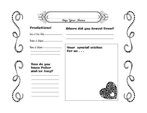 wedding guestbook template member guest event themes invitations ideas