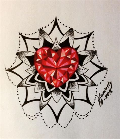 drawn diamonds red diamond pencil and in color drawn