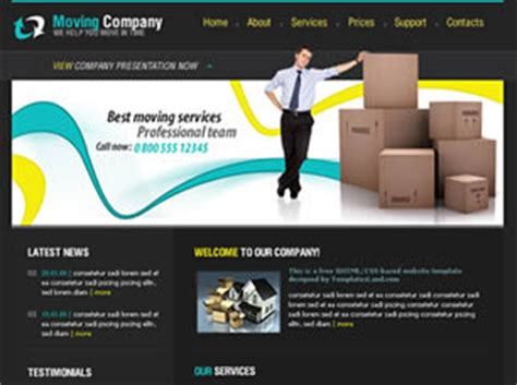 website templates for group of companies free transport website templates 21 free css