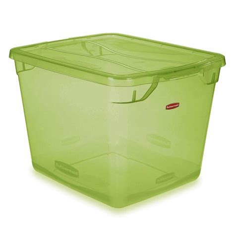 green rubbermaid storage containers rubbermaid roughneck 10 gal storage tote fg2214tpmicbl