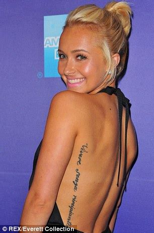 hayden panettiere displays partial removal of misspelled