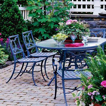 Painted Patio Furniture 16 Best Images About Metal Painted Outdoor Furniture On Pinterest