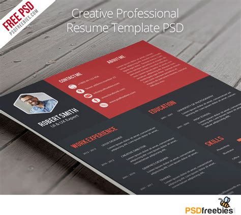 Creative Professional Resume Templates by Creative Professional Resume Template Free Psd