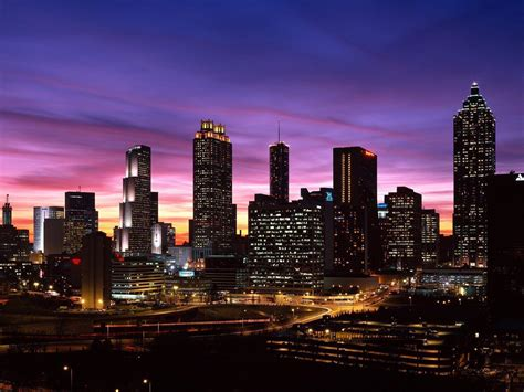 cityscape wallpaper atlanta skyline wallpapers wallpaper cave