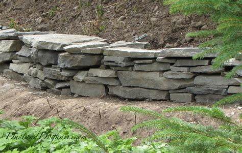 diy stacked stone retaining wall dustanddoghair com