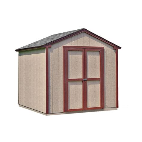 Shed Frame Kit by Handy Home Products Kingston 8 Ft X 8 Ft Wood Shed Kit With Floor Frame 18362 1 The Home Depot