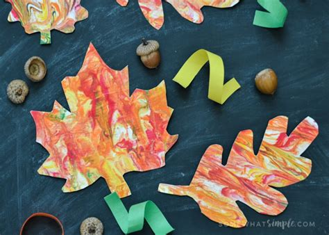 Marbled Paper Craft For - leaves archives somewhat simple