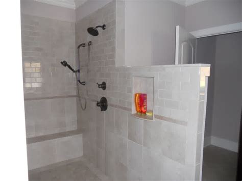 Tile Shower Without Door Walk In Shower Without Door In Recent Homesfeed