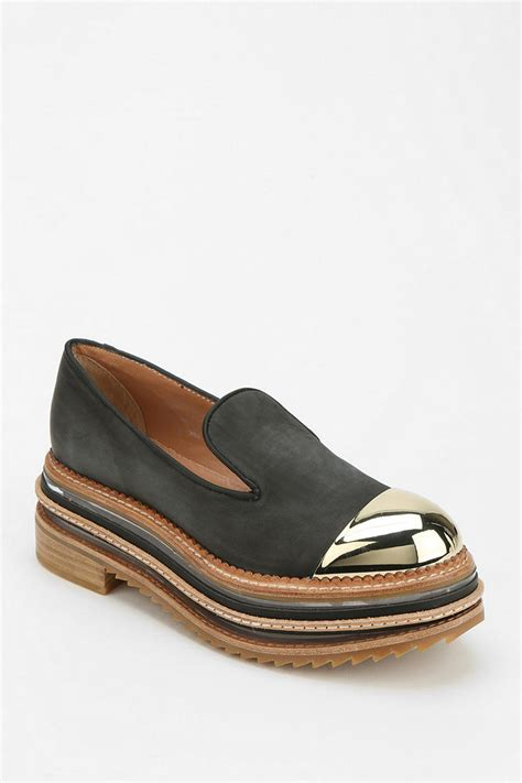 platform loafers outfitters izzard metal captoe platform loafer in