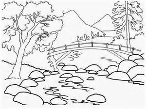 12 aneka sketsa gambar mewarnai pemandangan bahasapedia bahasapedia