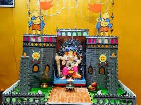 Types Of Home Decor Themes by Ganpati Decoration Ideas At Home Ganesh Pooja Decoration
