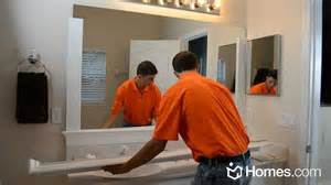 Large Framed Bathroom Mirrors by Homes Com Diy Experts Share How To Frame A Quot Builder Grade