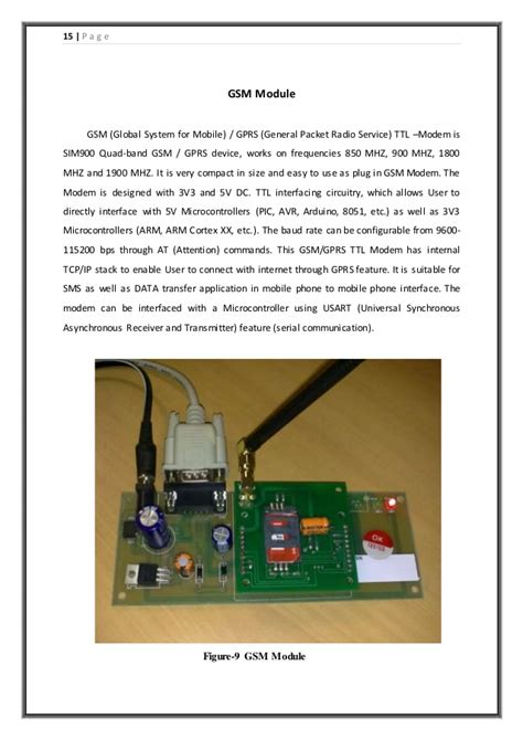 project report on home security system based on