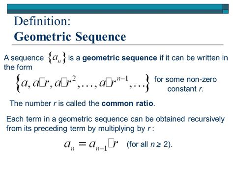 pattern sequence definition sequences and series it s all in section 9 4a ppt
