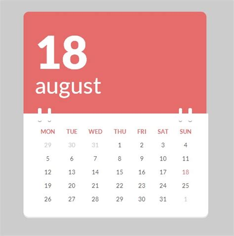 design html calendar 40 best free calendar templates psd css3 wallpapers