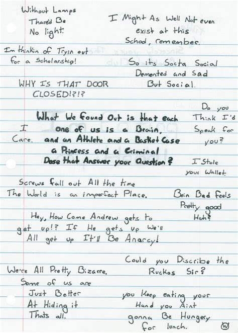 Closing Letter From The Breakfast Club 25 Best Breakfast Club Quotes On The Breakfast Club Breakfast Club And 80s