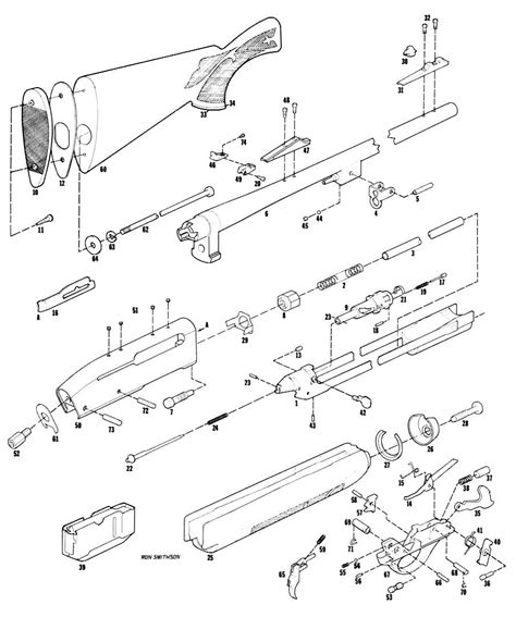 remington 66 parts diagram remington 742 parts diagram pictures to pin on