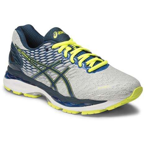 asics 2e running shoes asics gel nimbus 18 2e mens running shoes silver ink