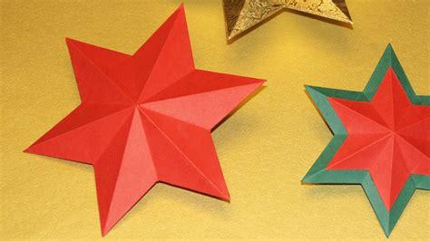 Basteln Weihnachten Sterne 5949 by Sterne Basteln Zu Weihnachten 3 D Falten How To