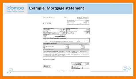 mortgage statement template 11 mortgage statement exle hostess resume