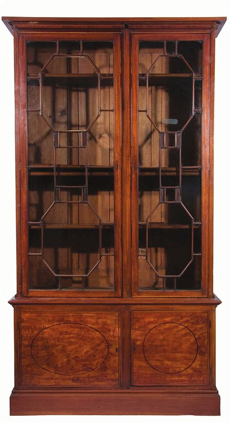 moulded cornice george iii mahogany library bookcase moulded cornice