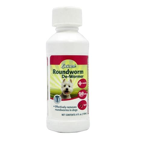 roundworm treatment for dogs 8 1 excel 4 ounce roundworm treatment wormers at arcata pet supplies