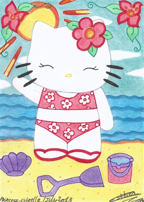 hello kitty summer hello kitty summer time by princess estrella on deviantart