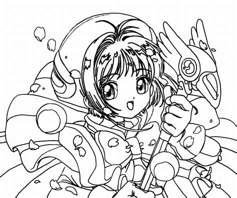 free coloring pages of anime