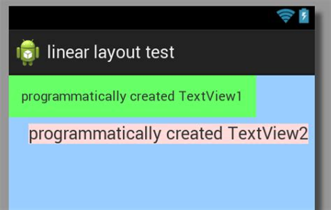 android layout gravity programmatically how can i add a textview to a linearlayout dynamically in