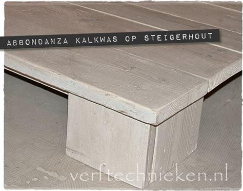 steigerhout meubels verven whitewash hoe doe je dat verftechnieken